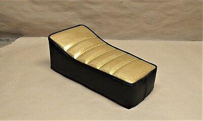 """14"""" X 7"""" ZODIAC GOLD BLACK GLITTER MINIBIKE SEAT SCOOTER MINI BIKE TACO BIRD MTD"""