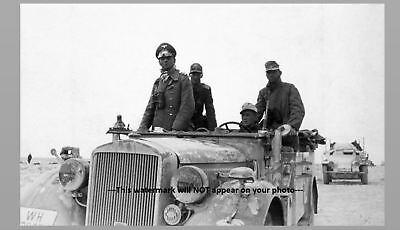 German General Erwin Rommel PHOTO Panzer Tank Cmdr, Wehrmacht, 1941 World War 2