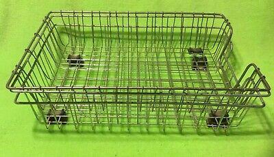 Vintage Office Wire Basket Desk Organizer Letter Tray Holder Lot Of 3