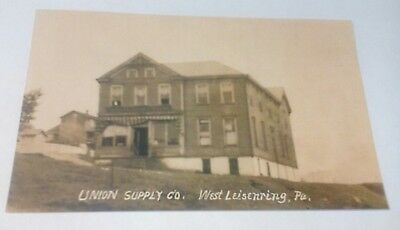 Old West Leisenring PA. Union Supply Co. Coal Mine Company Store Postcard Repo