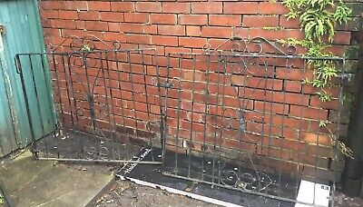Pair Of Wrought Iron Metal Double Garden Driveway Drive  Gates