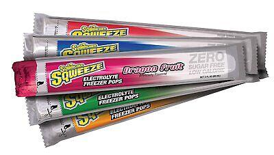 Sqwincher Sqweeze Zero Sugar Freezer Pops, 5 Assorted Flavors, 3 oz