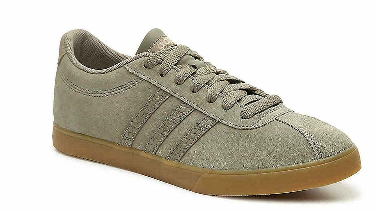 Adidas Courtset Women's Tennis Shoes Trace Cargo/Olive Green/ Cyber Mint F35224