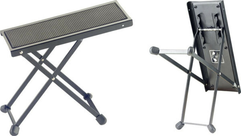 STAGG FOS-A1 Black METAL FOLDING FOOT REST FOR GUITAR , BASS, MANDOLIN , VIOLIN