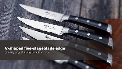 [NEW] 4.5 inch steak knife set of 4, Best Quality German High Carbon