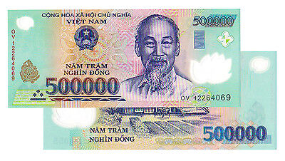 1 x 500,000 VIETNAM DONG BANK NOTE VIETNAMESE CURRENCY VND BANKNOTE