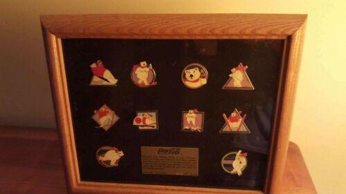 """Vintage: Limited Edition Coca Cola """"POLAR BEAR"""" Collectible Pin Set"""