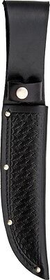 Sheaths Sh210 Black Basketweave Leather Sheath Fits Fixed Knives