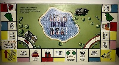 1987 Toys From Houston Tx. Living In The Usa Board Game