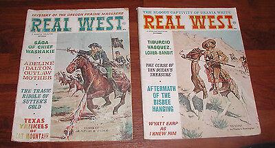 2 REAL WEST MAGAZINE CHARLTON NOVEMBER SEPTEMBER 1965 REMINGTON WYATT EARP