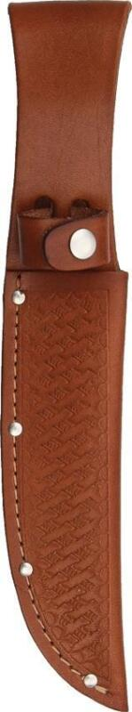 """Brown Leather Sheath For Straight Fixed Blade Knife Up To 6"""" Blade 1135"""
