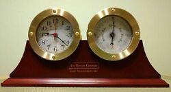 Howard Miller 645-597 South Harbor Weather & Maritime (Table Clock / Barometer)
