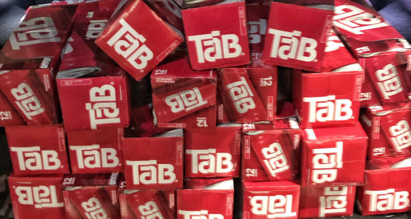 Tab Soda Cola One Single 12 Pack Brand New Unopened Cans 12 OZ (QTY) FREE SHIP