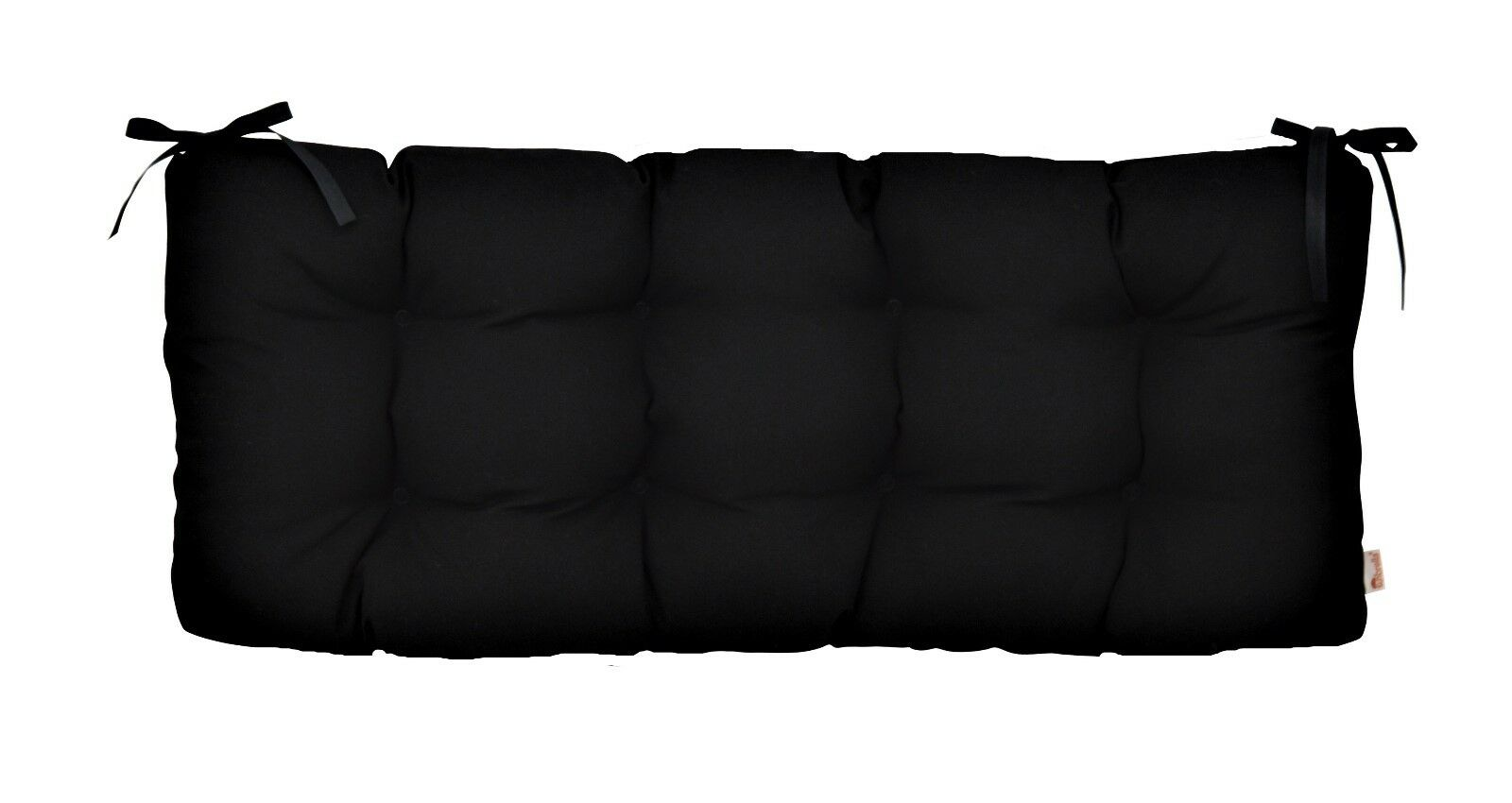 Sunbrella Canvas Black Indoor Outdoor Tufted Bench Cushion w