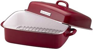 Kitchen Aid Enamel Roaster Red