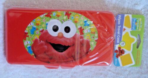 Sesame Street Beginnings BABY ELMO Flat Carry Case for wipes travel plastic