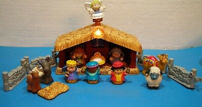 Fisher Price Little People Christmas Story Nativity Boxed Gift Set Working