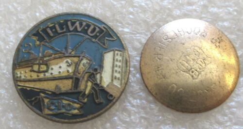 Antique International Longshore and Warehouse Union Member Lapel Pin - ILWU