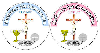 40 FIRST 1st HOLY COMMUNION PARTY FAVORS LABELS STICKERS FOR YOUR FAVORS