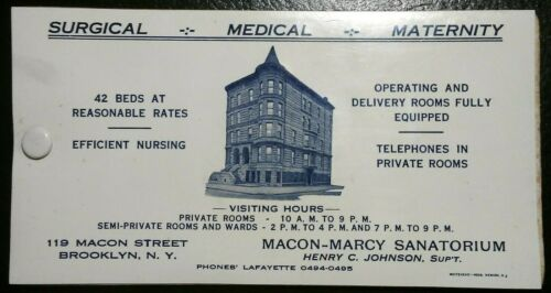 Vintage Macon-Marcy Sanatorium Medical Advertisement Celluloid Ink Blotter