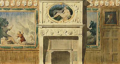 Paul Joseph JAMIN(1853-1903) Aquarelle/collection Ernest hébrad architecte Archi