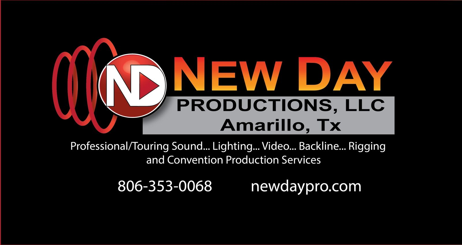 New Day Productions LLC used gear