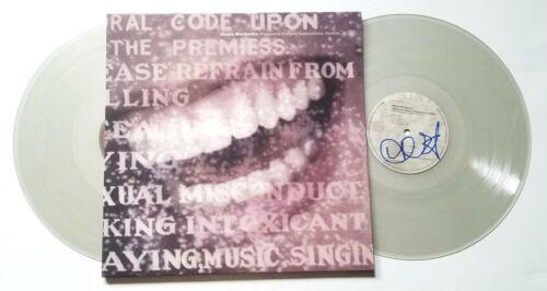 Alanis Morissette SIGNED Supposed Former Infatuation Junkie 2x clear vinyl COA
