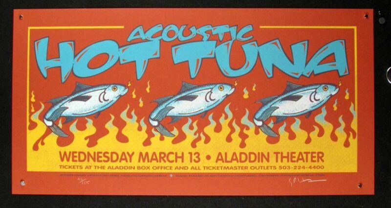 Acoustic Hot Tuna Poster Aladdin Portland 2002 Hand Signed #92/155 Gary Houston