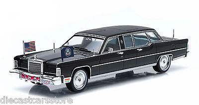 1972 LINCOLN CONTINENTAL RONALD REAGAN LIMOUSINE 1/43 BY GREENLIGHT 86110 C New Lincoln Continental