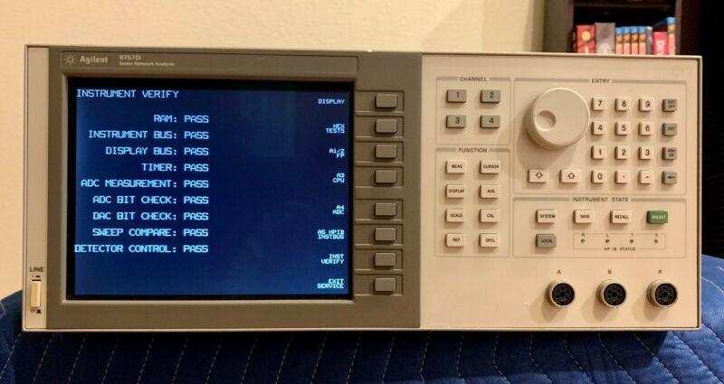 HP 8757D Scalar Network Analyzer 10 MHz- 40 GHz (LCD Display)