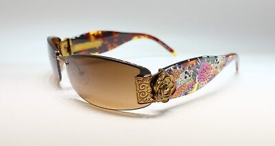 Ed Hardy EHS020 63-16 120 COCOA Sunglasses with Case and Cleaning Cloth