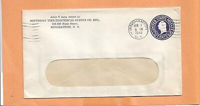 SOUTHERN TIER ELECTRICAL SUPPLY CO 1940 NY   VINTAGE ADVERTISING ENVELOPE +