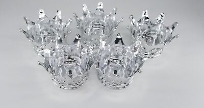 12X Baby Shower favors Fillable Sliver Crown Prince/princess Party Decorations - Plastic Prince Crown