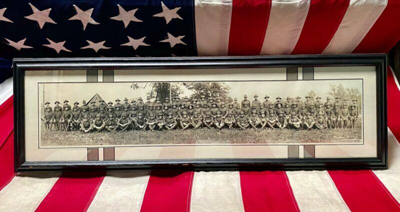 Vintage 1920 PA.National Guard Panoramic Military Photograph WWI Mt.Gretna,PA