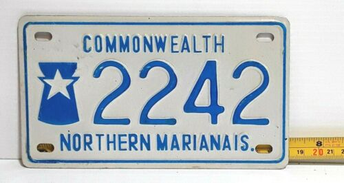 NORTHERN MARIANA ISLANDS - 1978 motorcycle license plate - EARLY issue