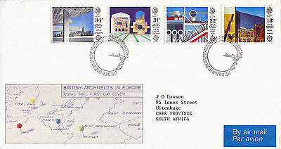 12 MAY 1987 BRITISH ARCHITECTS IN EUROPE ROYAL MAIL FIRST DAY COVER BUREAU SHS k