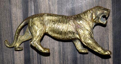 Tiger Lion Jaguar Panther Shape Brass Statue Wild Animal Big Cat Showpiece RD111