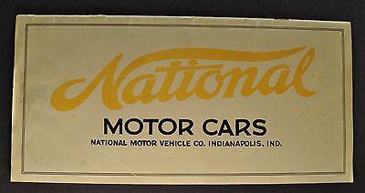 1915 National Series AB Six Catalog Sales Brochure Original 15