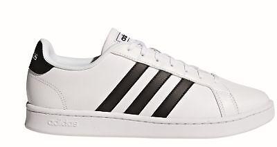 adidas Core Herren Freizeit- und Fitness-Schuhe Grand Court weiß (Adidas Schuhe Fitness)