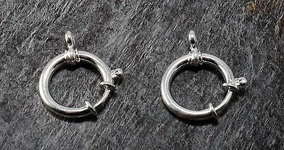 VTG Spring Ring Clasp Pair SIlver Metal Large Size 20mm Connector Pocket (Metal Spring Ring)