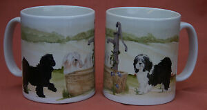TIBETAN TERRIER DOG MUG OFF TO THE DOG SHOW WATERCOLOUR PRINT SANDRA COEN ARTIST