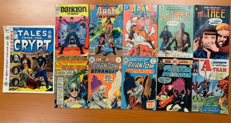 VINTAGE MIXED (11) COMIC BOOK LOT ARAK MS.TREE A-TEAM TALES FROM THE CRYPT