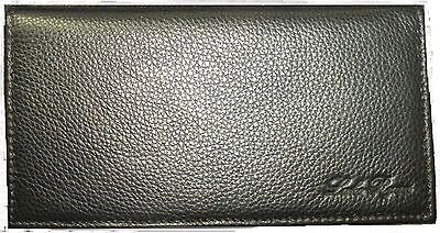 REAL Full Grain Leather Checkbook Cover -- Black  TWO (2) Year 100% GUARANTEE