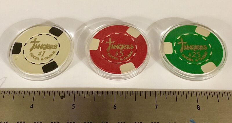 Tangiers Casino Chips Authentic Props With Certification