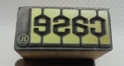 Vintage Printing Letterpress Printers Block Case Agricultural Equipment Logo