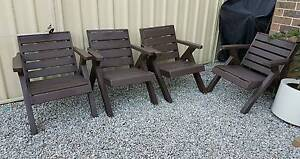 OUTDOOR SOLID TIMBER LOUNGE SUITE GARDEN BBQ CHAIR FURNITURE SET! Casula Liverpool Area Preview
