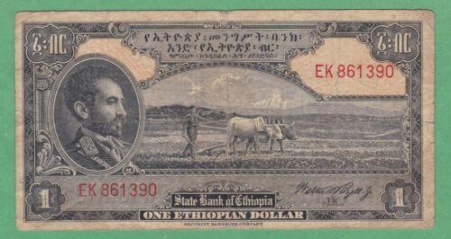 Ethiopia 1 Dollar Note P-12c   FINE