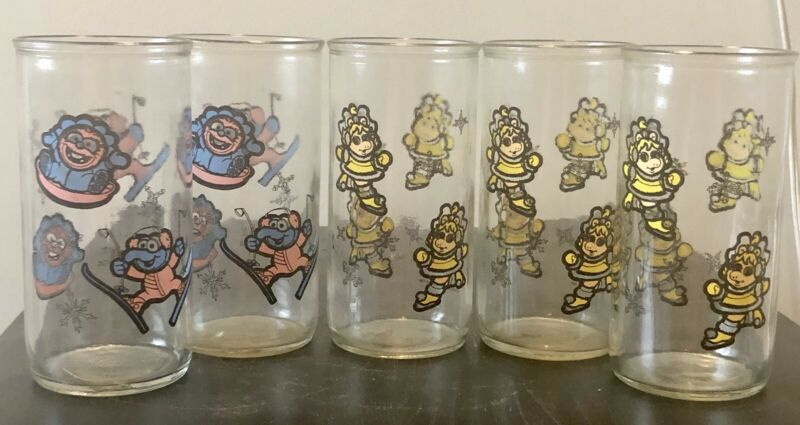 Vintage 1989 Jim Henson Muppet Babies Glasses (Set of 5)