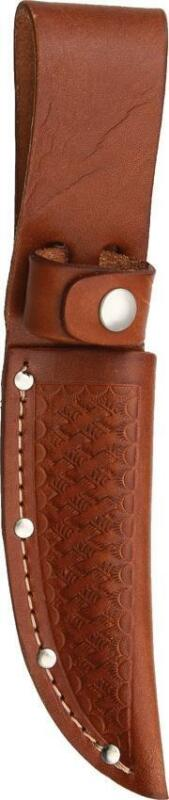 """Brown Leather Sheath For Straight Fixed Blade Knife Up To 4"""" Blade  1133"""