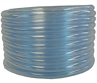 100' Clear Vinyl Tubing (Vinyl Tubing 100ft HVAC Clear Drain Hose 5/8in ID Water Tube AC Condensate Pump)
